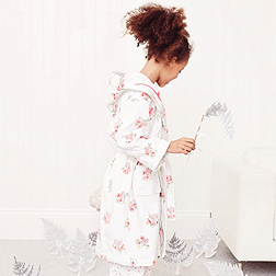 Mia Floral Velour Robe