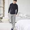 Men's Window Pane Check Pajama Bottoms