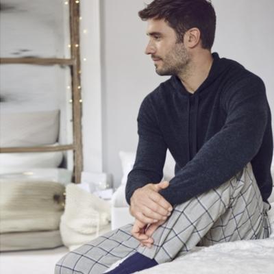 Men's Window Pane Check Pajama Bottoms