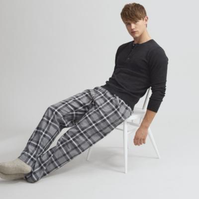 Window Pane Check Flannel Pajama Bottoms