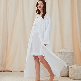 Cotton Micro Waffle Robe