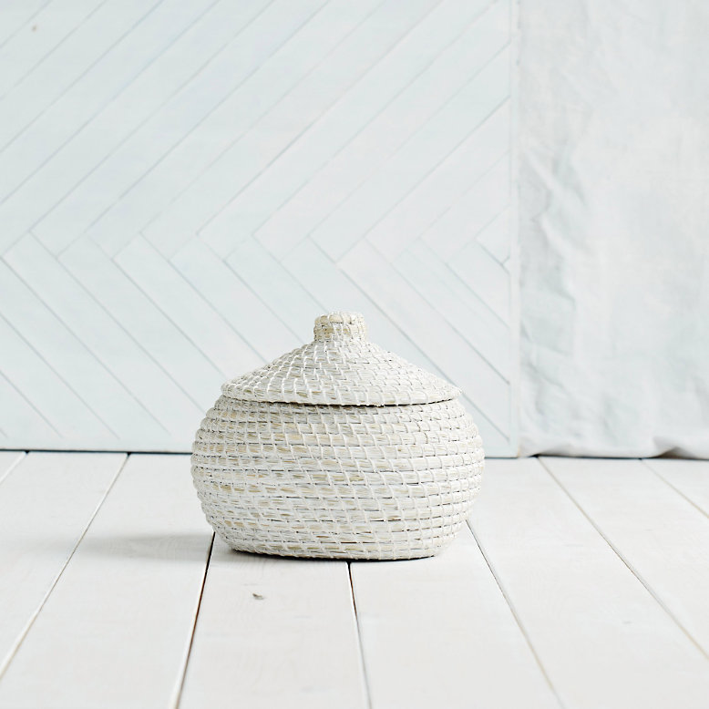 Image of The White Company Alibaba round basket - small