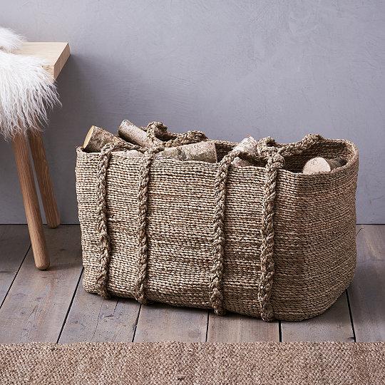 Large Woven Storage Basket & Large Woven Storage Basket | Laundry u0026 Storage | The White Company UK