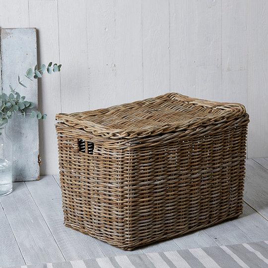 Kubu Lidded Storage Box & Kubu Lidded Storage Box | Laundry u0026amp; Storage | The White Company UK