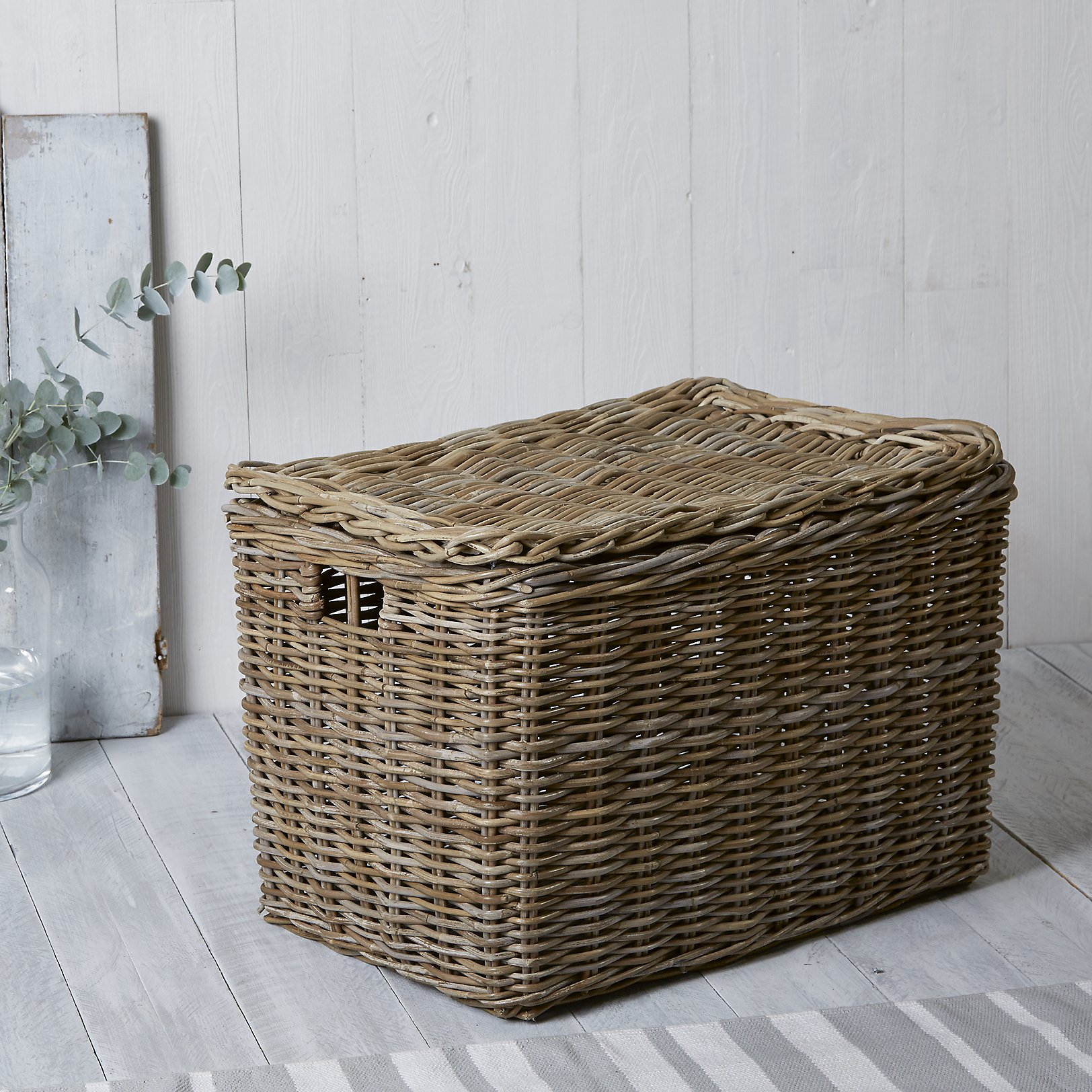 Home underbed storage baskets wicker underbed storage basket - Kubu Lidded Storage Box