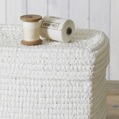 Rope Lidded Storage Box
