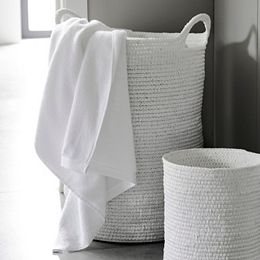 White Rope Laundry Basket