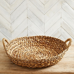 Oversized Round Woven Tray