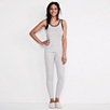 Narrow Contrast Lace Cami - Silver Gray Marl