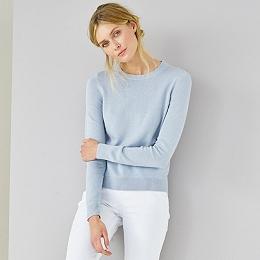 Neat Crew Neck Sweater - Misty Blue