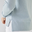 Neat Crew Neck Sweater - Misty Blue