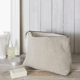 Natural Large Wash Bag