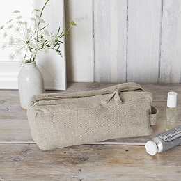 Small Natural Wash Bag