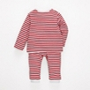 Anchor Stripe Pajamas - Red/White