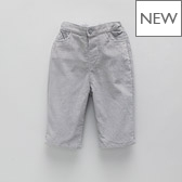 Baby Boy Cord Trousers - Silver Grey