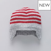Striped Baby Trapper Hat