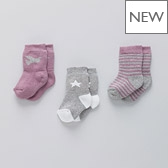 Dove Star Baby Socks