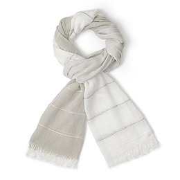 Mini Silver Sequin Stripe Scarf
