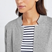 Wool-Cotton Open Cardigan