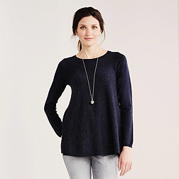 Neat Swing Jumper - French Navy Marl