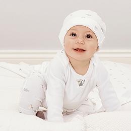 Night Time Safari Snuggle Pajamas - White