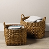 Water Hyacinth Baskets Set of 2