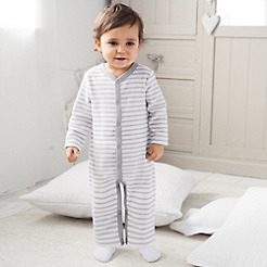 Baby Stripe Terry Sleepsuit
