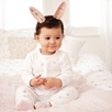 Bunny Face Pajamas - White