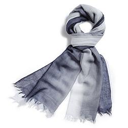 Ombre Cashmere Scarf - Blue
