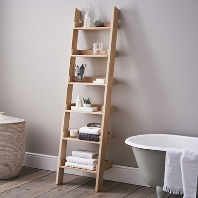 Oak. view full size image. Oak Small Ladder Shelf ...