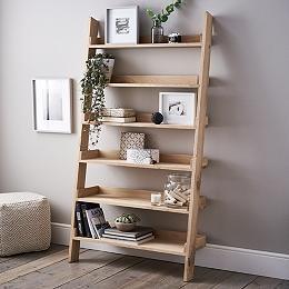 Oak Large Ladder Shelf