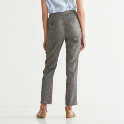 Oxford Pants with Linen
