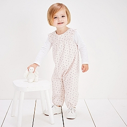 Olivia Print Dungaree Set