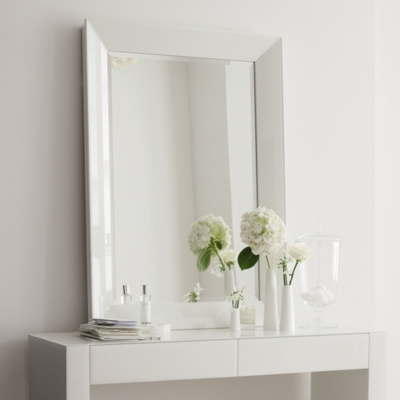 carlton glass framed wall mirror carlton collection the white company uk