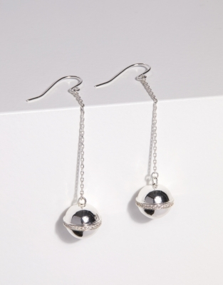 Silver Plated Orb Earrings