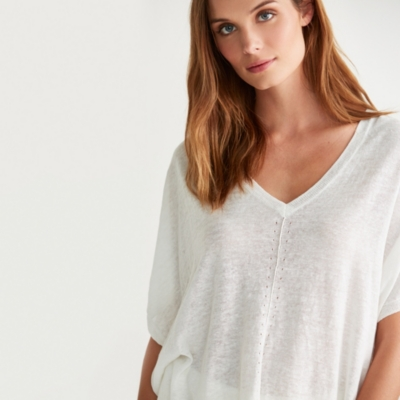 Linen-Cotton Oversized Sweater