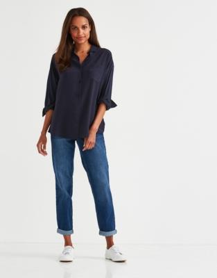 Silk Jersey Oversized Shirt