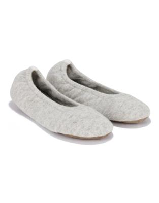 Cashmere Contrast Ballet Slipper