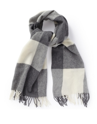 Wool Oversized Patchwork Scarf