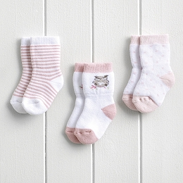 Owl Baby Socks 3 Pack