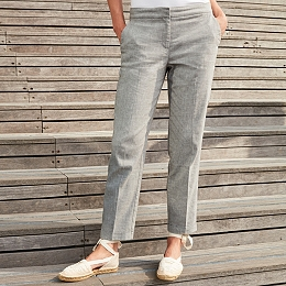 Oxford Linen Pants