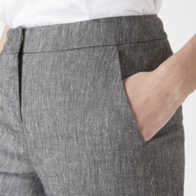 Linen Blend Oxford Pants