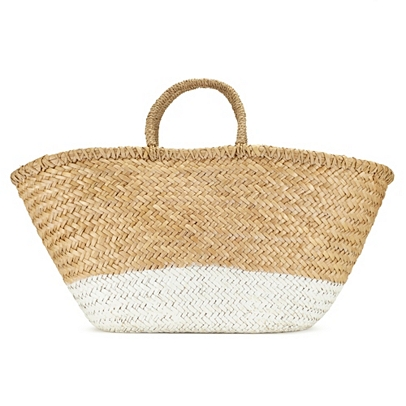 how to clean a straw basket