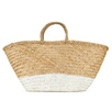 Painted Straw Basket