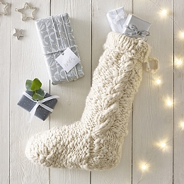 Cable Knit Stocking