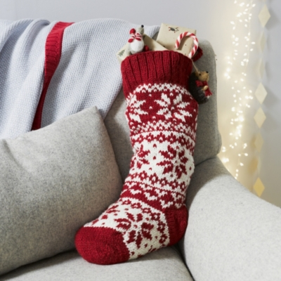 Fair Isle Christmas Stocking