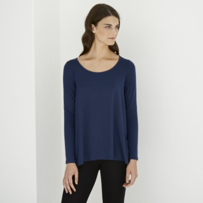 Pleat Back Jersey Top - Admiral
