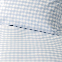 Gingham Bed Linen - Pale Blue