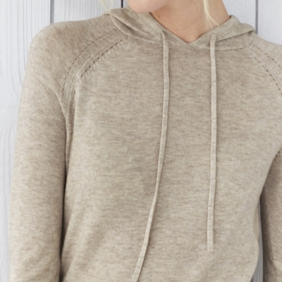 Pointelle Knitted Hoodie