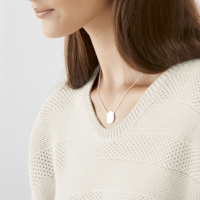 Pressed Disc Necklace - Silver
